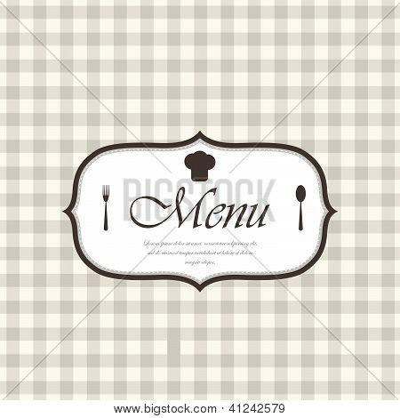 Design do menu de restaurante