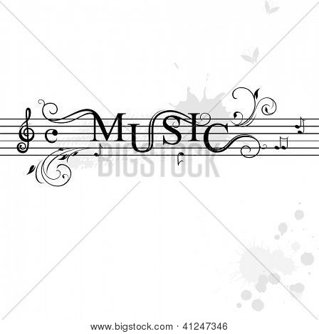 Typography music banner