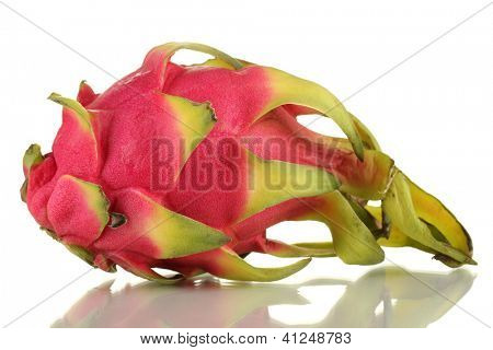 Ripe pitahaya isolated on white