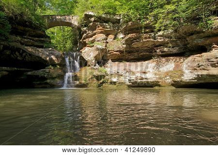 Waterfall In Woods