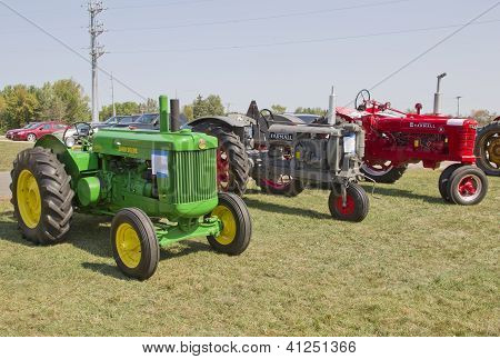 Three Antinque Tractors