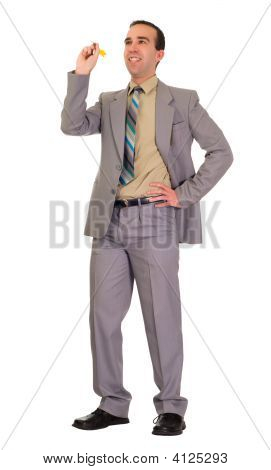 Businessman Throwing Darts