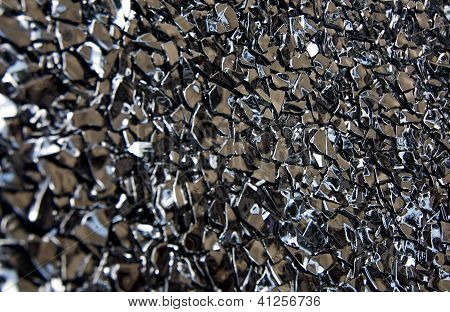 Broken black glass texture