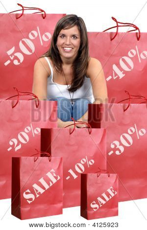 Woman With Sales Bags