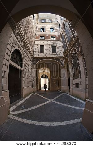 Courtyard of palazzo - Rome