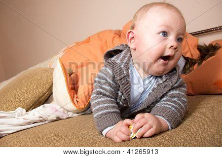 small caucasian boy