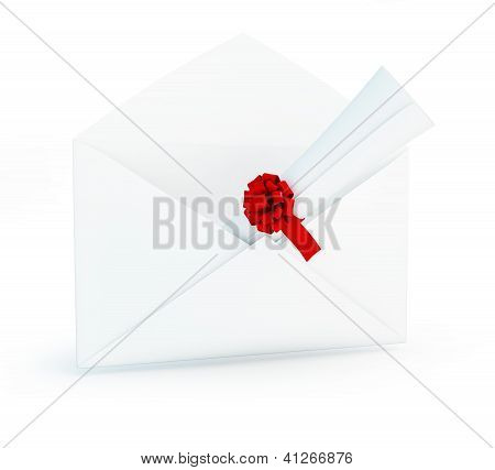Letter Diploma On A White Background