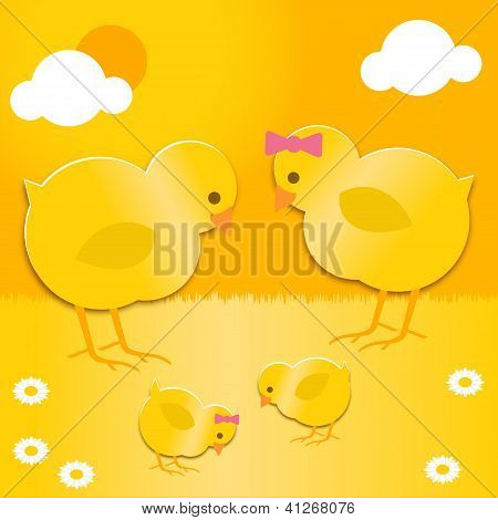 Easter Chicks Family