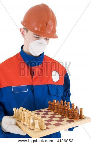 Labourer With Chess