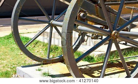 Wheels Of Antique Firearms.