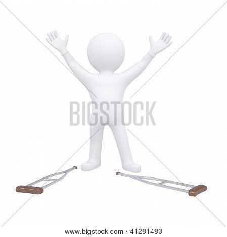 3D Man Threw His Crutches