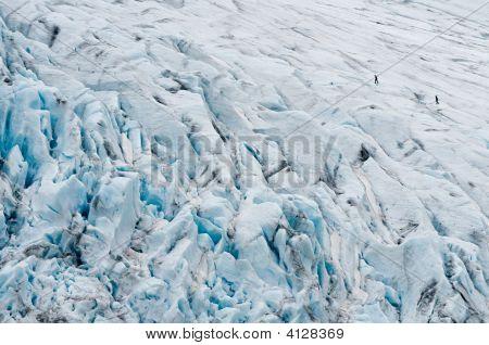 Climbers On Glacier