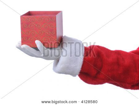 Santa With Empty Gift Box