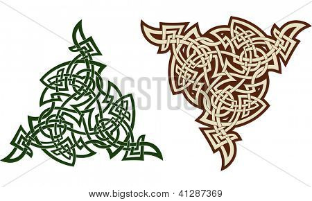 Traditional Celtic triskell. Tattoo pattern. Raster. Check my portfolio for a vector version.