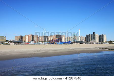 Coney Island In Winter Time