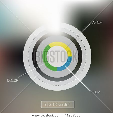 Pie Chart Interface Design Element | EPS10 Editable Vector Background
