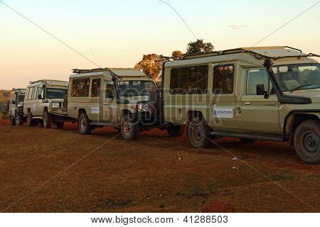 Safari Truck Parking Lineup