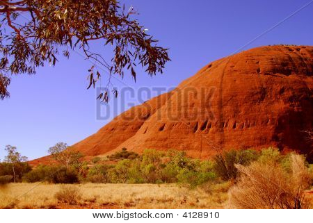 Red Hills In The Northern Territory Of Australia