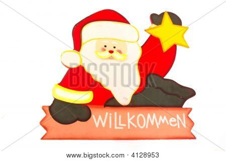 Father Christmas Welcome Sign