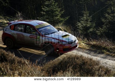 Subaru Impreza At Wales Rally Gb 2008