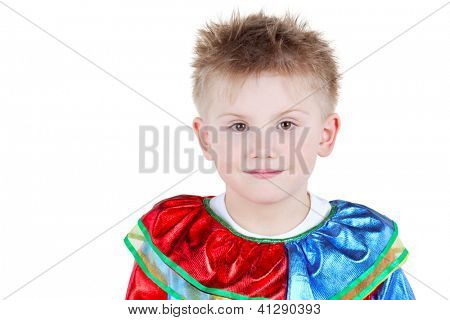 Portrait of smiling boy in carnival suit