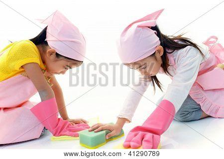 Chicas de limpieza