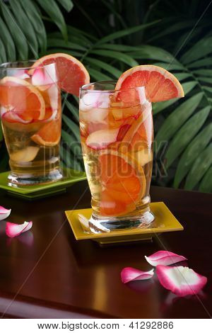 Grapefruit - Rose Iced Tea
