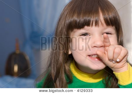 The Little Girl And Finger