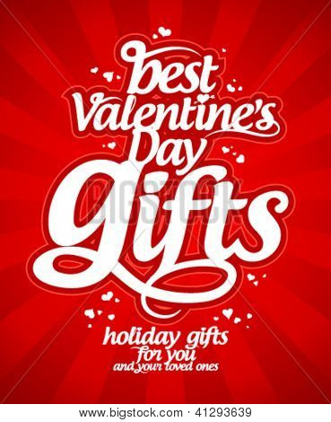 Best Valentine`s day gifts design template.