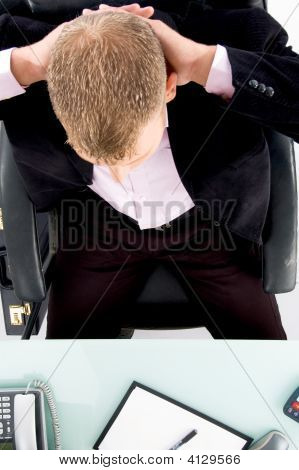 High Angle View Of Businessman