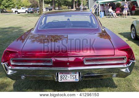 Red 1966 Pontiac Rear View