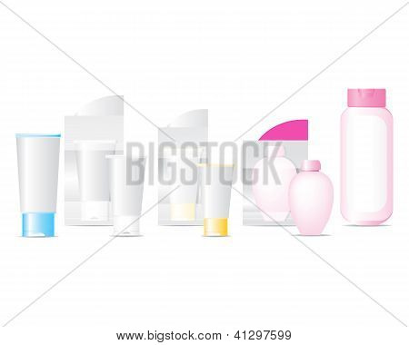 Cosmetic Bottles Set Vector
