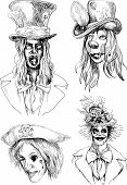 pic of dread head  - A hand drawn illustration of scary head - JPG