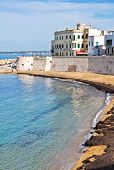 Panoramic view of Gallipoli. Puglia. Southern Italy.