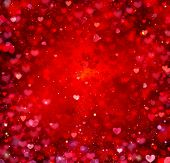 Valentine Hearts Abstract Red Background. St.Valentine's Day Wallpaper. Heart