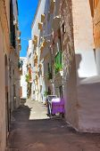 Alleyway. Gallipoli. Puglia. Italy.