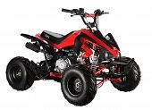 foto of four-wheel  - red atv quad - JPG