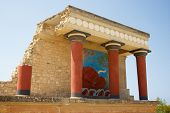 picture of minos  - North Entrance of Knossos palace - JPG