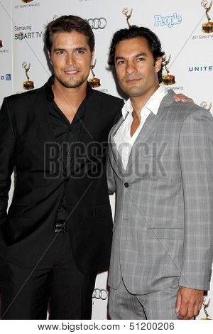 LOS ANGELES - SEP 20:  Diogo Morgado, Darwin Shaw at the Emmys Performers Nominee Reception at  Pacific Design Center on September 20, 2013 in West Hollywood, CA