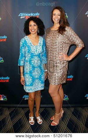 NEW YORK-AUG 28: Members of the American Military Spouses Choir attend the post-show red carpet for NBC's
