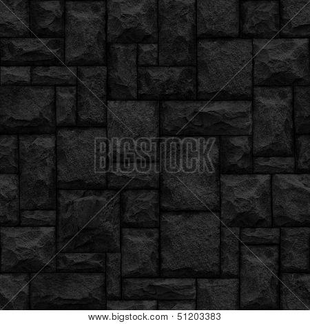 Black seamless stonework background.