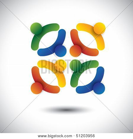 Concept Vector Of School Kids Or Children Having Fun Together