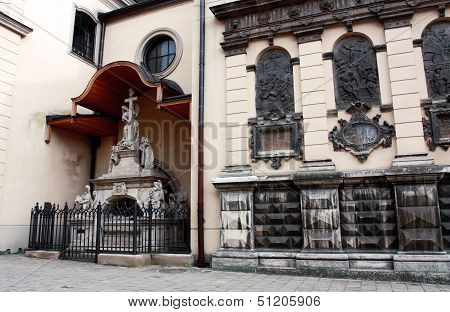 Wall Of Catholic Cathedral