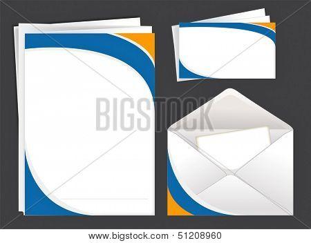 Envelope,blank,card. Rasterized illustration. Vector version in my portfolio