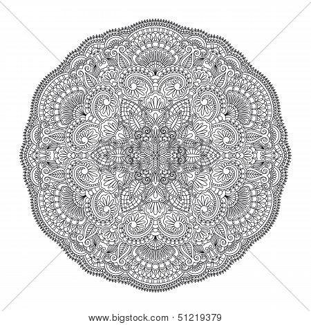 Vector Round Ornament.