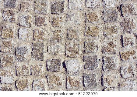 Cobblestone Ground As Background