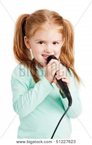 Cute Little Girl Singing