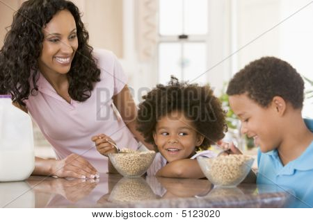 Children Eating Breakfast