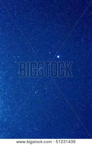 Constellation of Lyra in summer night sky