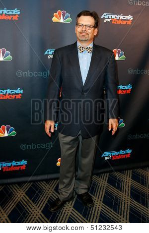NEW YORK-AUG 28: Comedian John Wing attends the post-show red carpet for NBC's